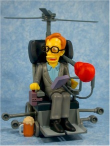 my Stephen Hawking action figure is spinning madly